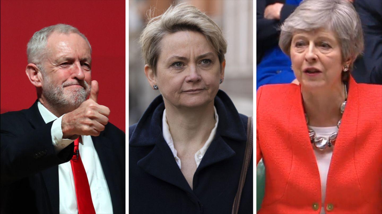 Jeremy Corbyn,Yvette Cooper und Theresa May (v.l.n.r.) haben nicht nur wegen des Brexit-Deals unterschiedliche Ansichten