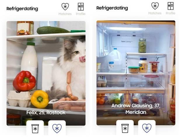 """""""Refrigerdating"""" von Samsung: Tindern mit Kühlschränken"""