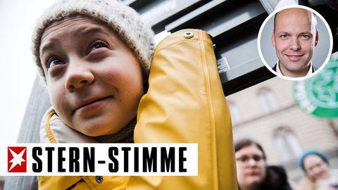 "Greta Thunberg bei der Klimademonstration ""Fridays for Future"" in Stockholm"