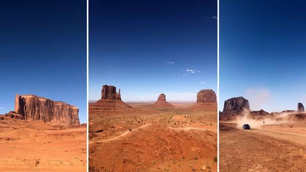 USA-Roadtrip: Rote Felsen im Monument Valley