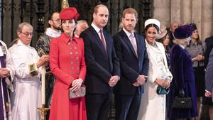 Herzogin Kate, Prinz William, Prinz Harry und Herzogin Meghan