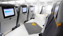 Bett in einem Flugzeug