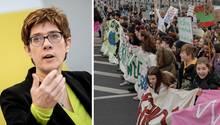 CDU-Chefin Annegret Kramp-Karrenbauer, Kliamdemo in Berlin