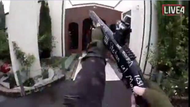 Neuseeland: Das Videostandbild aus einem von einem Attentäter selbst aufgenommenen und über das Internet verbreiteten Video