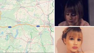 Kartenausschnitt der Autobahn 12, die vermisste Rebecca aus Berlin
