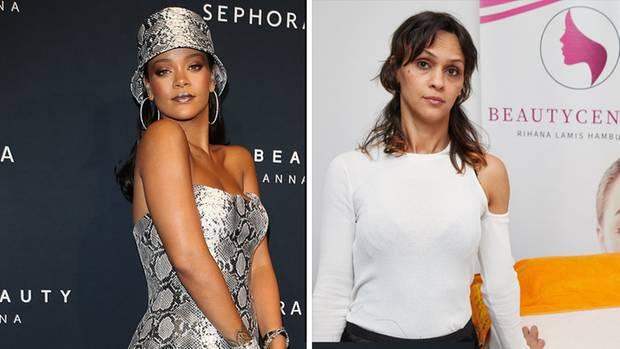 Sängerin Rihanna (l.) ist wie ihr FanSamia El Aidi, Nesitzerin des Schönheitssalons in Hamburg
