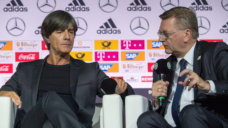 Nationaltrainer Joachim Löw und DFB-Präsident Reinhard Grindel