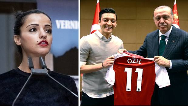 Sawsan Chebli, Mesut Özil, Recep Tayyip Erdogan