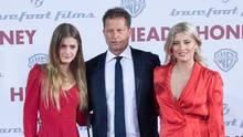 Til Schweiger mit seinen Töchtern Lilli und Luna