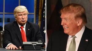 """Alec Baldwin (l.) spielt bei """"Saturday Night Live"""" eine Parodie des US-Präsidenten Donald Trump"""