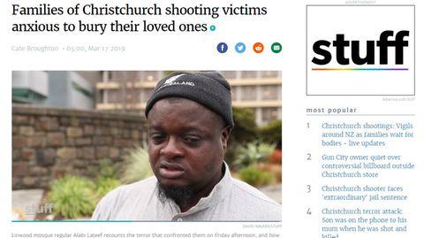 MoscheebesucherAlabi Lateef, der gemeinsam mit Mitstreitern womöglich noch mehr Tote in Christchurch verhinderte