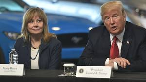 Donald Trump und General Motors Chefin Mary Barra