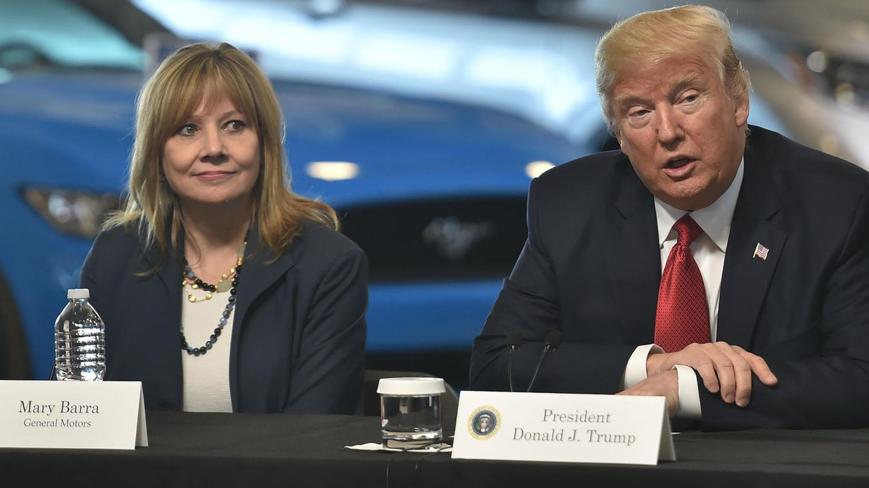 Donald Trump und General Motors Chefin Mary Barra
