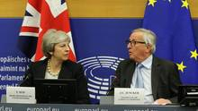 Brexit - Theresa May und Jean-Claude Juncker in Brüssel