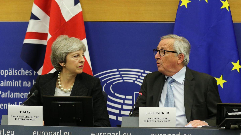 Brexit - Theresa May und Jean-Claude Juncker in Brüssel
