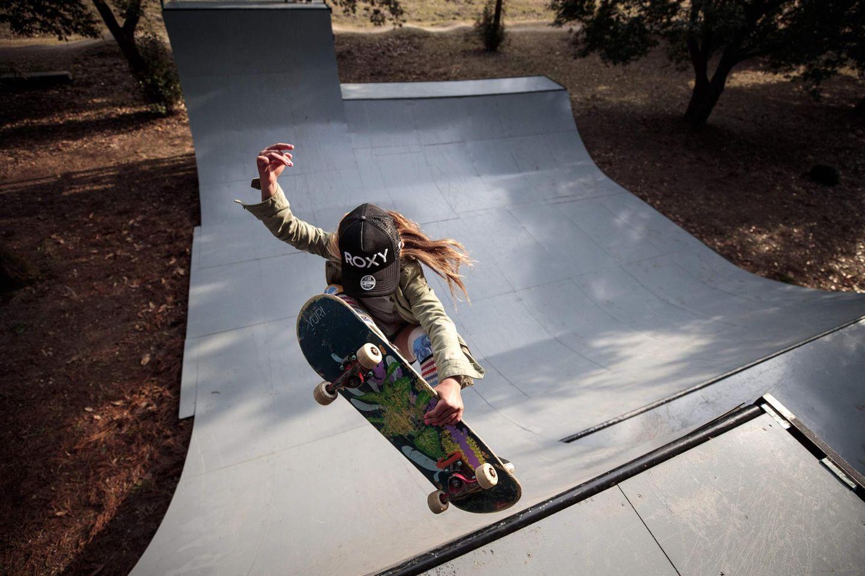 Sky Brown zeigt, was sie auf dem Skateboard drauf hat