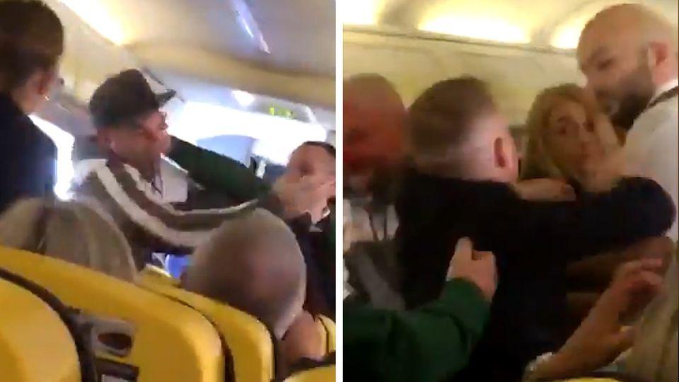Ryanair: Passagier bei Prügelei in die Nase gebissen