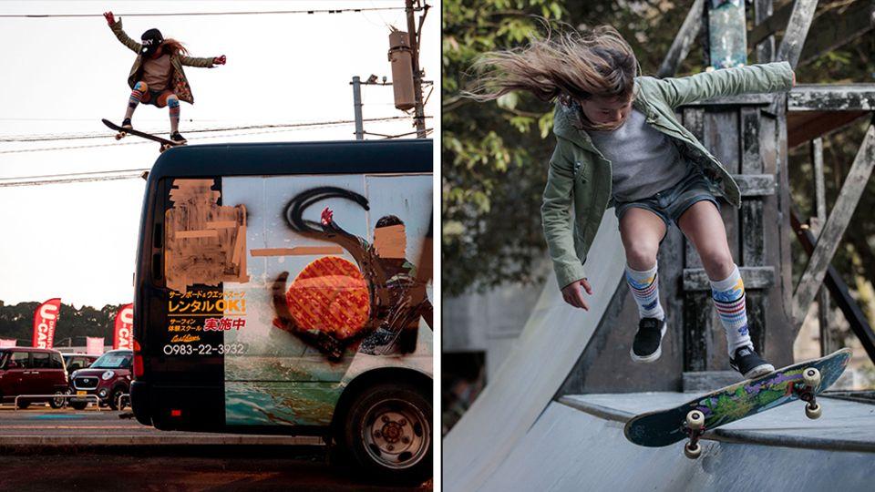 Jüngste britische Olympionikin: Mit drei stand Sky Brown zum ersten Mal auf einem Skateboard, mit zwölf wird sie in Tokio antreten