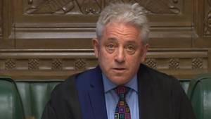 Der Präsident des britischen Unterhauses, John Bercow