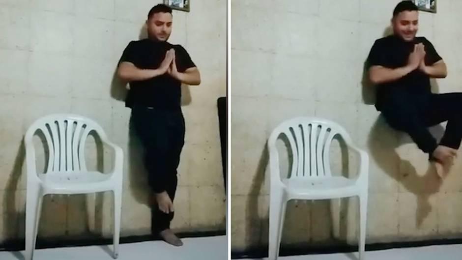 Optische Täuschung: Mann schwebt scheinbar - am Ende zerstört eine witzige Szene die Illusion