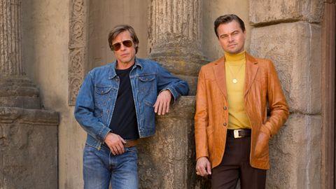 Brad Pitt (l.) und Leonardo DiCaprio spielen in Quentin Tarantinos Film die Hauptrollen.
