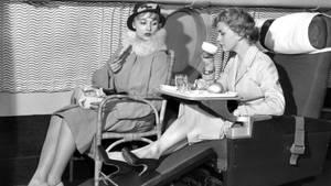 """Slumberette"""" Sitz der Fluggesellschaft B.O.A.C"""
