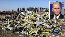 Das Trümmerfeld in der Nähe von Addis Abeba: Hier stürzte am 10. März eine Boeing 737 MAX 8 von Ethiopian Airlinesab. Am 18. März wandte sich Boeing-Chef Dennis Muilenburg mit einemBrief und einer Videobotschaft erstmals an die Öffentlichkeit.