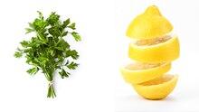 Zitrone und Petersilie