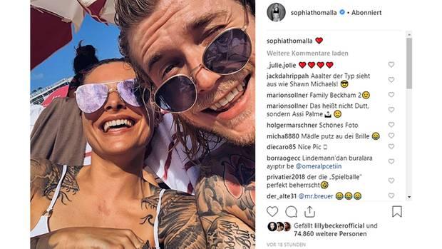 Vip News: Sophia Thomalla postet Selfie mit Loris Karius