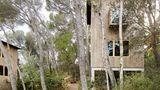 Das kleinere Haus streckt sich kühn in die Höhe - man lebt wie ineinem Baumhaus.