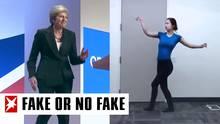 Theresa May und eine CGI-Tänzerin