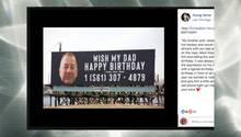 Billboard zum Geburtstag von Chris Ferry