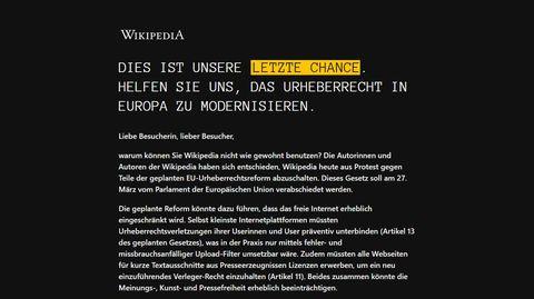 Abschaltung von Wikipedia