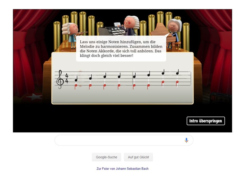 Johann Sebastian Bach Google Doodle