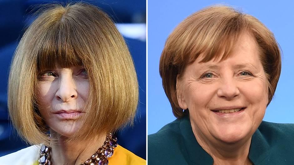 Anna Wintour Angela Merkel