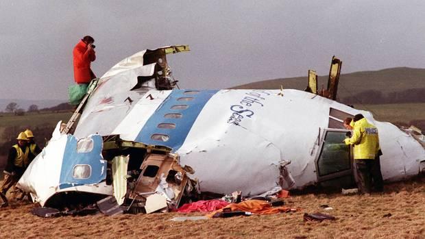 Die abgestürzte PanAm-Maschine in Lockerbie