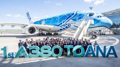 Als letzter neuer A380-Kunde hat amMittwoch die japanische Fluggesellschaft ANA einen Airbus A380 erhalten
