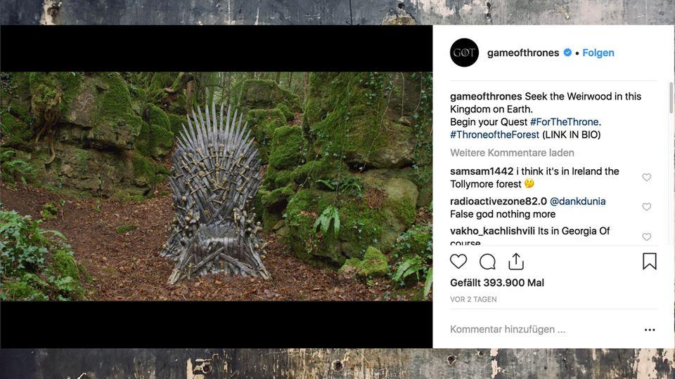 """""""Game of Thrones"""": Weltweite Schatzsuche nach dem eisernen Thron"""