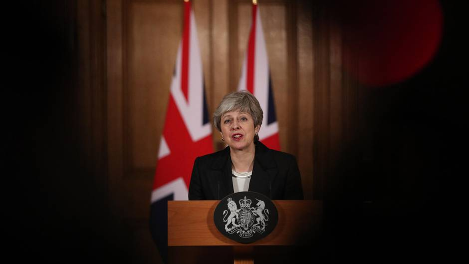 Premierministerin Theresa May bei ihrem Brexit-Statement