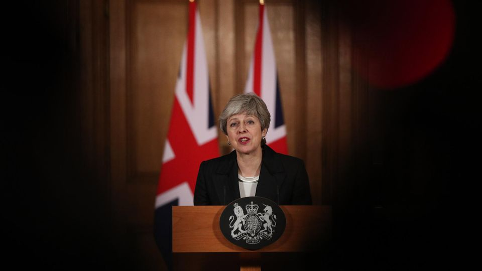Premierministerin Theresa May bei ihrem Brexit-Statement