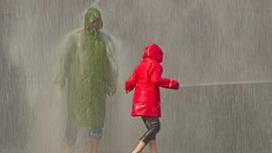 Wenn Papa den Nachwuchs abholen soll und dabei in das Unwetter des Jahrzehnts gerät ...