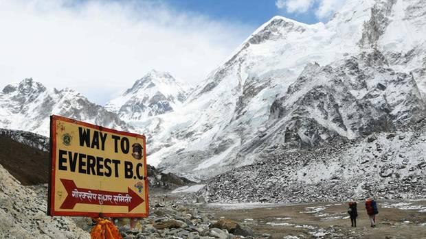 Auf dem Weg zum Everest Basislager in der Solukhumbu District