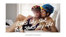 Ein Motiv der Fahrradhelm-Kampagne
