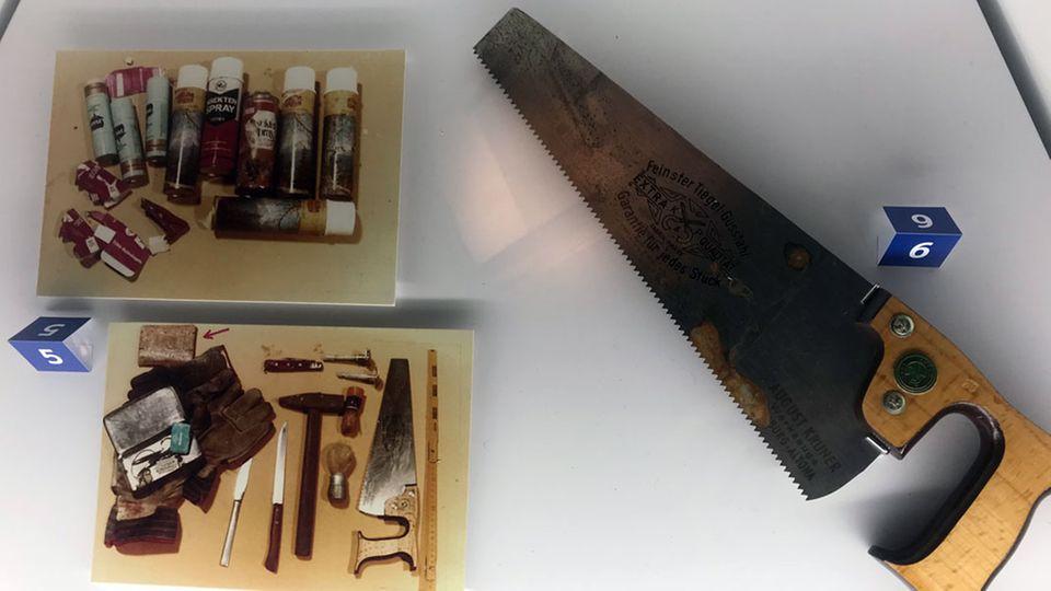 Im Polizeimuseum Hamburg bekommen Besucher unter anderem die Säge des Serienmörders Fritz Honka zu sehen.