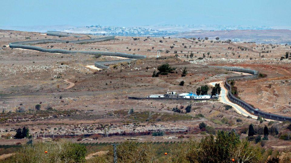 Die Golanhöhen in Israel und Syrien