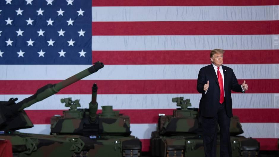 """Rede in Ohio: Trump brüstet sich mit """"großartiger"""" Panzerfabrik – was Putin damit zu tun hat"""