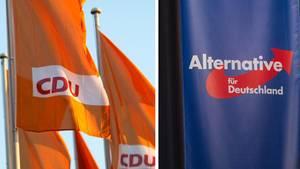 """Für CDU und AfD geht es vor der Landtagswahl am 1 September in einerUmfrage der """"Leipziger Volkszeitung"""" abwärts"""