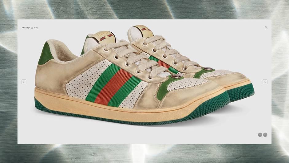 7a274564c16ea Gucci verkauft dreckige Turnschuhe – für 700 Euro