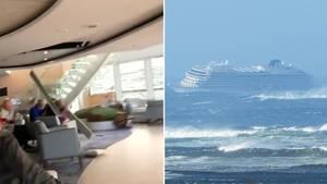 """Norwegen: """"Viking Sky"""" gerät in Seenot – Augenzeugenvideos zeigen Chaos an Bord"""