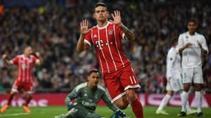 Super League statt Champions League - James trifft für Real Madrid gegen FC Bayern